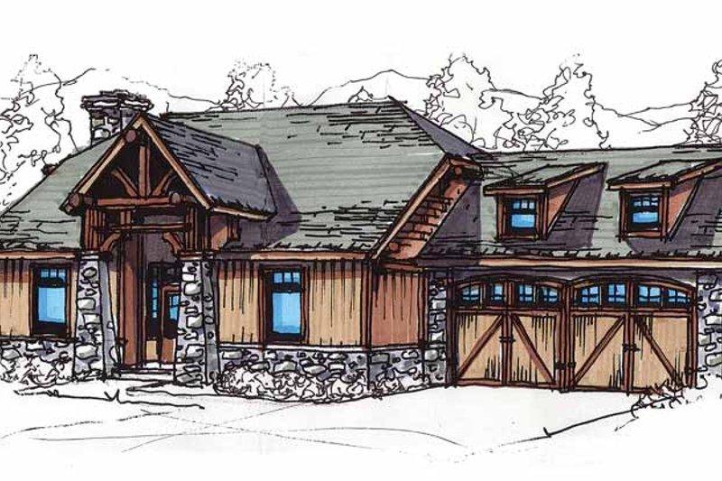 Craftsman Exterior - Front Elevation Plan #17-2816
