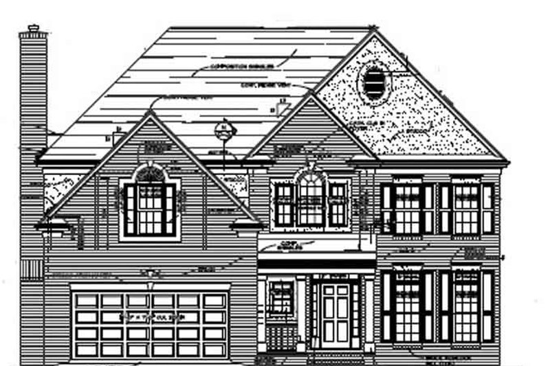 Home Plan - Colonial Exterior - Front Elevation Plan #453-341