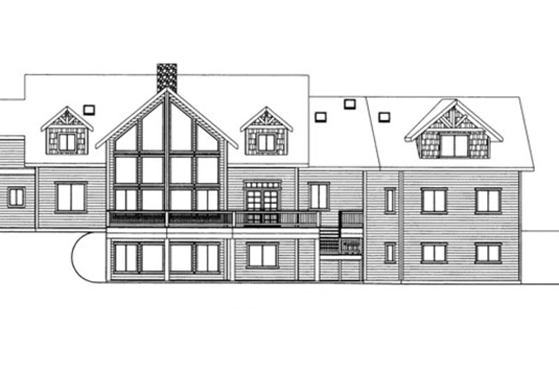 Traditional Exterior - Rear Elevation Plan #117-830 - Houseplans.com