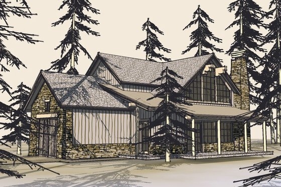 Craftsman Exterior - Front Elevation Plan #899-5