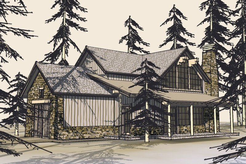 Craftsman Style House Plan - 3 Beds 2 Baths 1749 Sq/Ft Plan #899-5 Exterior - Front Elevation
