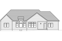 Craftsman Exterior - Rear Elevation Plan #1010-51