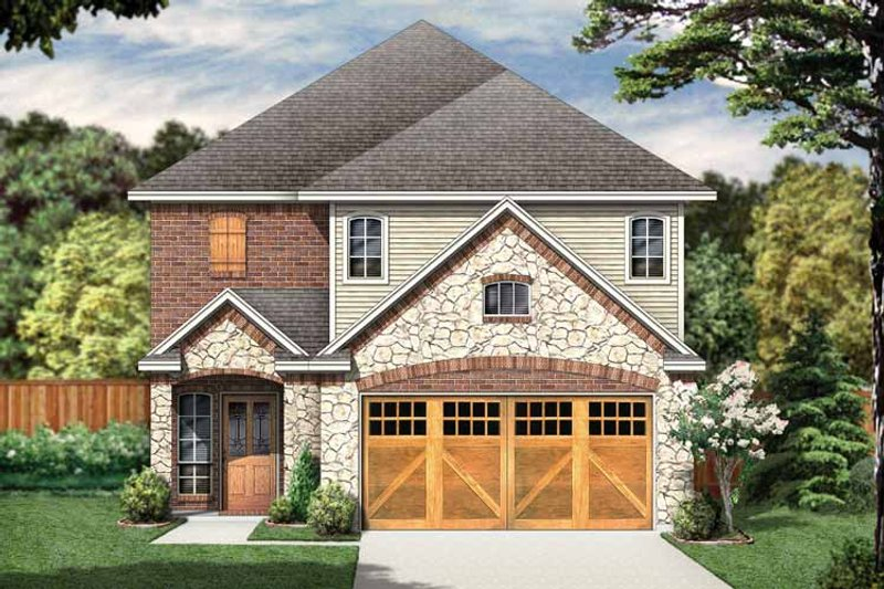 Home Plan - Country Exterior - Front Elevation Plan #84-653