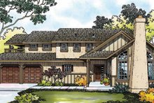 House Design - Tudor Exterior - Front Elevation Plan #124-341