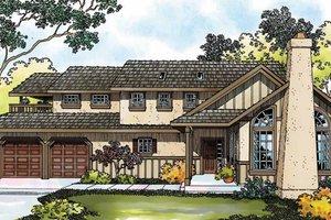 House Design - Tudor Exterior - Front Elevation Plan #124-341