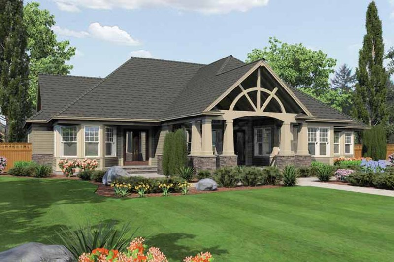 Traditional Exterior - Rear Elevation Plan #132-555 - Houseplans.com