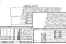 Colonial Exterior - Rear Elevation Plan #137-215