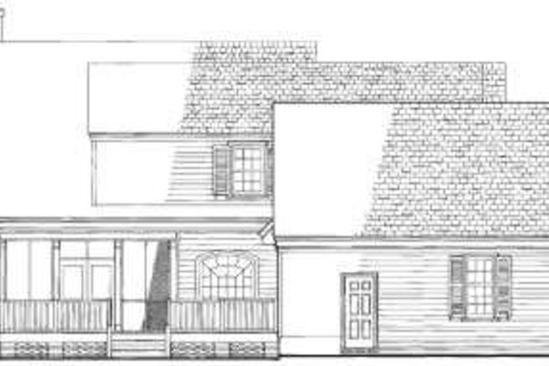 Colonial Exterior - Rear Elevation Plan #137-215 - Houseplans.com