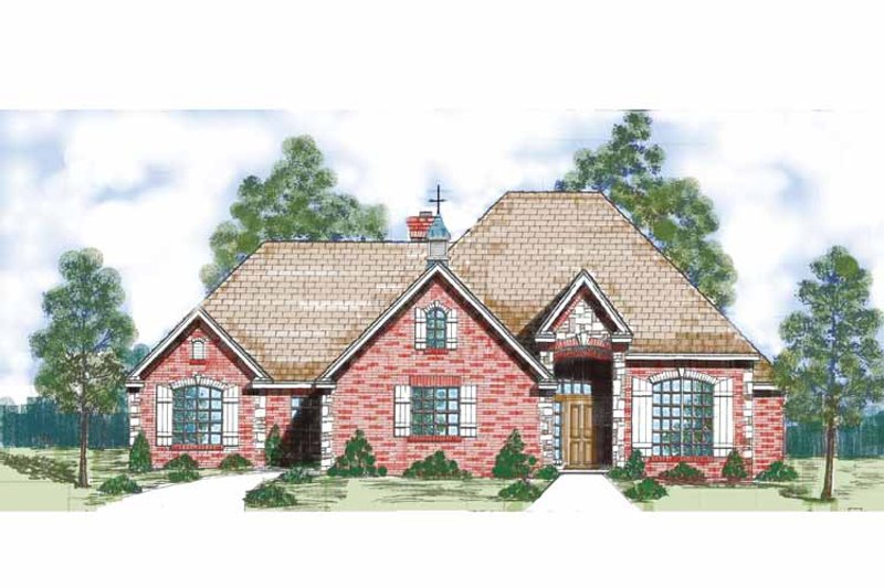 Traditional Exterior - Front Elevation Plan #52-277 - Houseplans.com