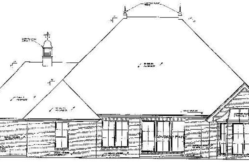 Traditional Exterior - Rear Elevation Plan #310-677 - Houseplans.com