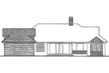 House Plan Design - Country Exterior - Rear Elevation Plan #930-246