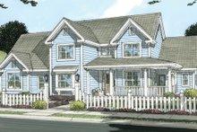 Dream House Plan - Farmhouse Exterior - Front Elevation Plan #513-2046