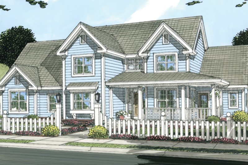 Farmhouse Exterior - Front Elevation Plan #513-2046