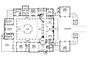 Mediterranean Style House Plan - 5 Beds 5 Baths 7340 Sq/Ft Plan #1058-11 Floor Plan - Main Floor
