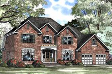 Architectural House Design - Colonial Exterior - Front Elevation Plan #17-3105