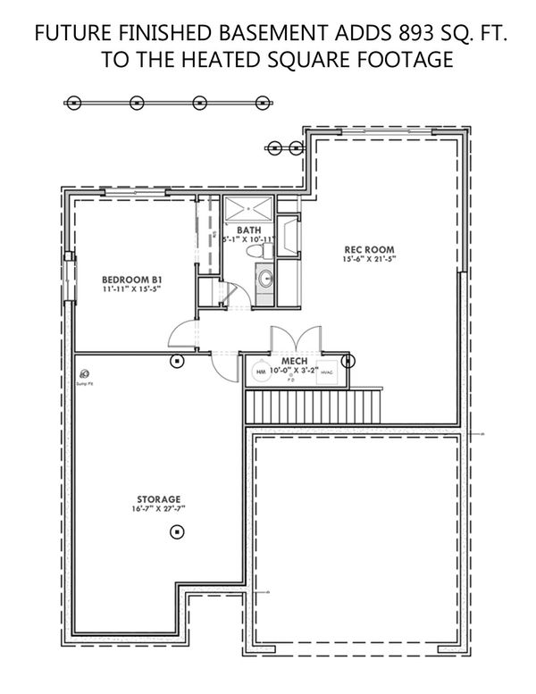Home Plan - Future Finished Basement