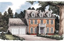 Classical Exterior - Front Elevation Plan #927-574