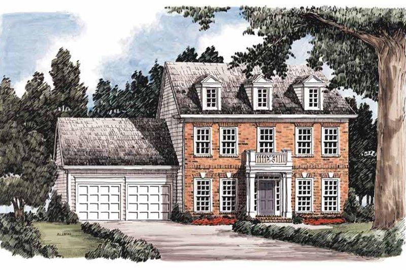 Classical Exterior - Front Elevation Plan #927-574 - Houseplans.com