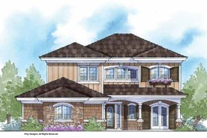 House Plan Design - Country Exterior - Front Elevation Plan #938-17