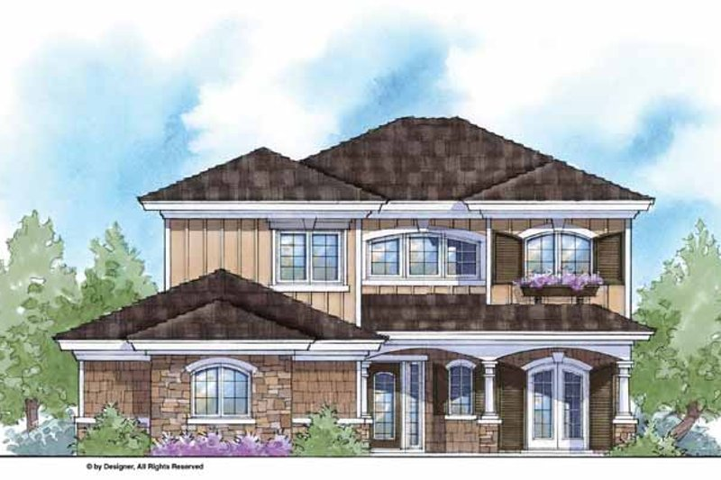 Country Exterior - Front Elevation Plan #938-17