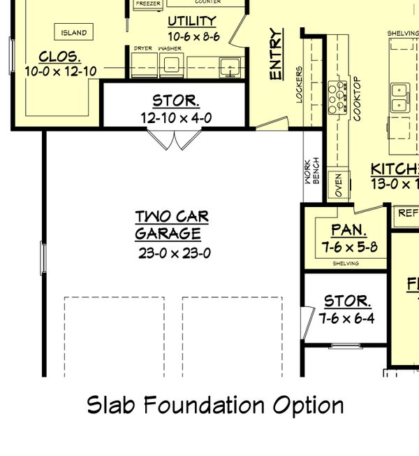 Craftsman Floor Plan - Other Floor Plan Plan #430-104