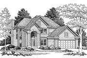 Traditional Style House Plan - 4 Beds 2.5 Baths 2043 Sq/Ft Plan #70-289 Exterior - Front Elevation