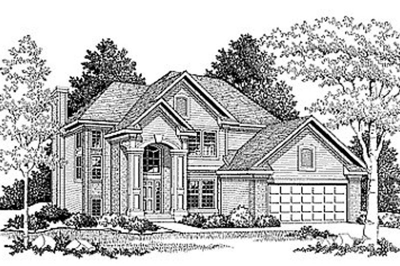Dream House Plan - Traditional Exterior - Front Elevation Plan #70-289