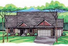 European Exterior - Front Elevation Plan #51-997