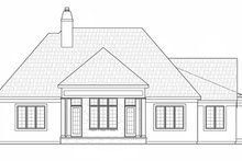 European Exterior - Rear Elevation Plan #20-2251