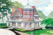 Craftsman Style House Plan - 5 Beds 5.5 Baths 5906 Sq/Ft Plan #928-63 Exterior - Front Elevation