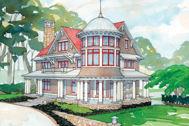 Craftsman Exterior - Front Elevation Plan #928-63