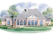 Home Plan Design - Southern Exterior - Rear Elevation Plan #20-1147