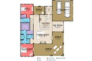 Craftsman Style House Plan - 4 Beds 3.5 Baths 2518 Sq/Ft Plan #63-429 Floor Plan - Main Floor