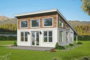Modern Exterior - Front Elevation Plan #932-425