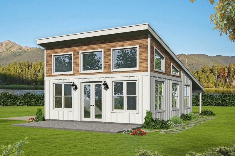 Modern Style House Plan - 0 Beds 1 Baths 750 Sq/Ft Plan #932-425