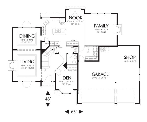 Traditional Floor Plan - Main Floor Plan Plan #48-227