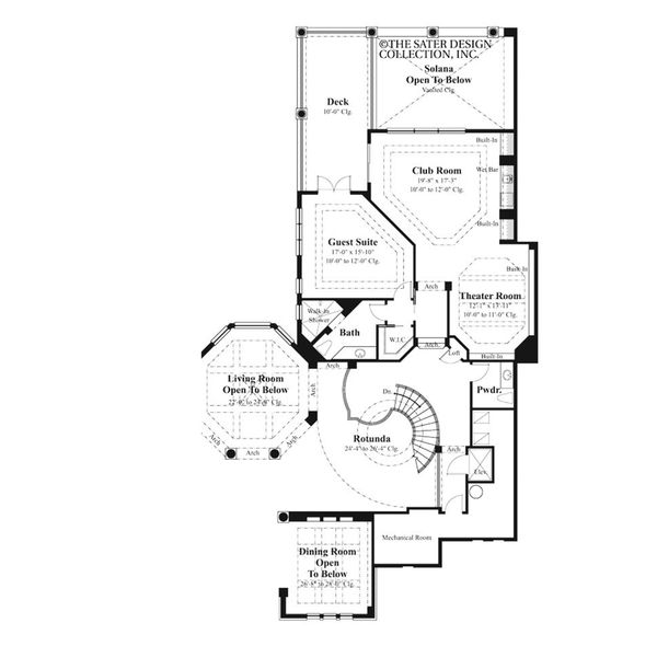 Mediterranean Floor Plan - Upper Floor Plan Plan #930-492