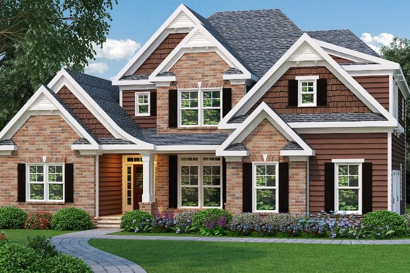 Architectural House Design - Traditional Exterior - Front Elevation Plan #419-110