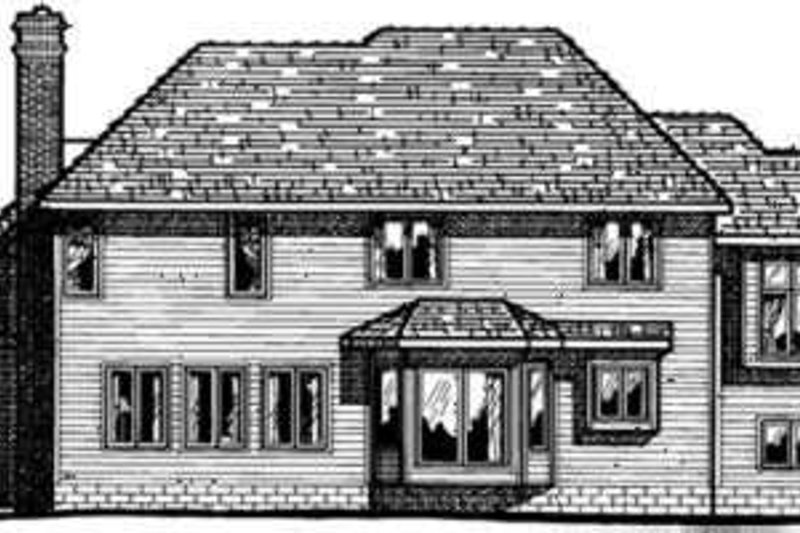 Traditional Exterior - Rear Elevation Plan #20-1015 - Houseplans.com
