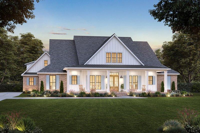 House Blueprint - Farmhouse Exterior - Front Elevation Plan #1074-51