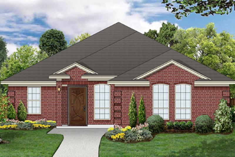 Home Plan - Traditional Exterior - Front Elevation Plan #84-563