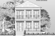 Beach Style House Plan - 3 Beds 2.5 Baths 1701 Sq/Ft Plan #442-4 Exterior - Other Elevation