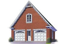 Home Plan - Traditional Exterior - Front Elevation Plan #23-431