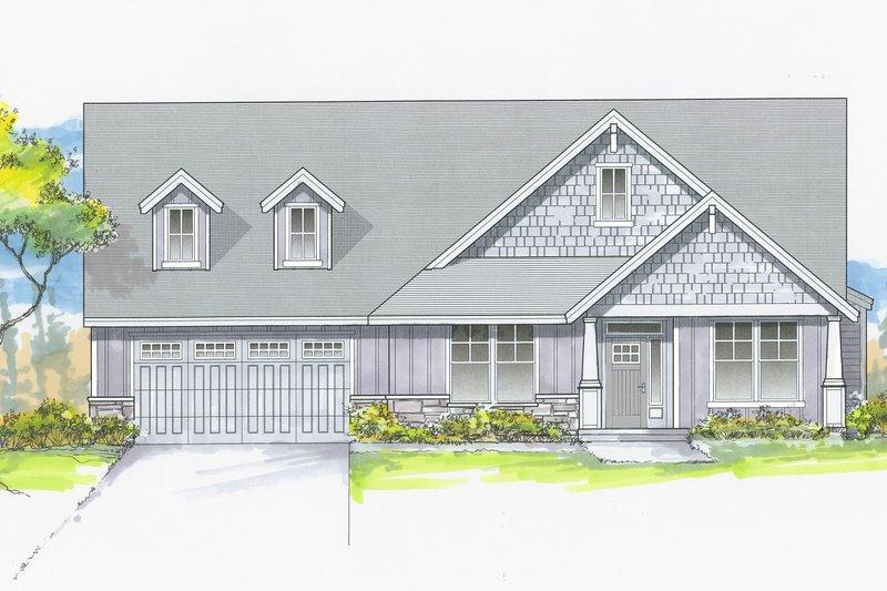 House Plan Design - Craftsman Exterior - Front Elevation Plan #53-658