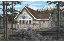 Cabin Exterior - Front Elevation Plan #126-219