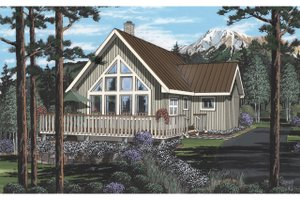 Cabin Exterior - Front Elevation Plan #126-219