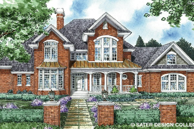 Architectural House Design - Traditional Exterior - Front Elevation Plan #930-261