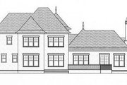 European Style House Plan - 4 Beds 3 Baths 3763 Sq/Ft Plan #413-112 Exterior - Rear Elevation