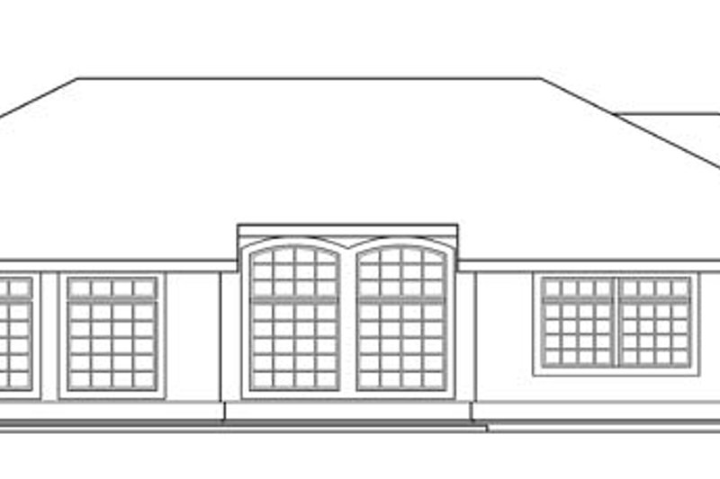 Mediterranean Exterior - Rear Elevation Plan #124-429 - Houseplans.com