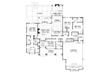 Craftsman Floor Plan - Main Floor Plan Plan #929-1025